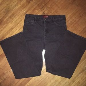 NYDJ brown flair jeans size 8 petite
